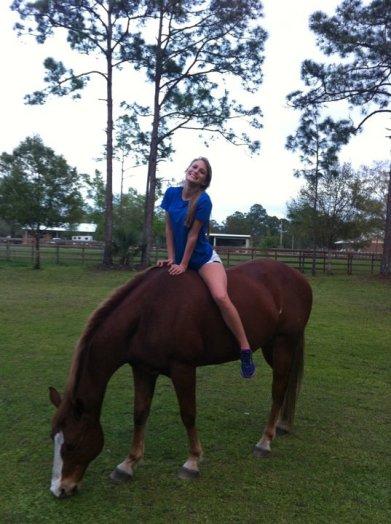 My horse, Murphy.